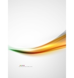 Blur glowing wave corporate business identity vector