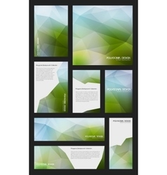 Abstract trendy polygnal design background vector image