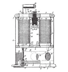 Air ozonizer vintage vector
