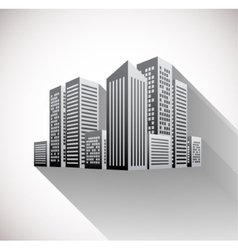 Cityscape with long shadow vector image vector image