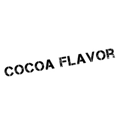 Cocoa flavor rubber stamp vector