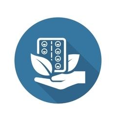 Herbal Medicine Icon Flat Design vector image