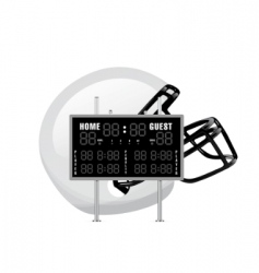 home and guest scoreboard vector image vector image