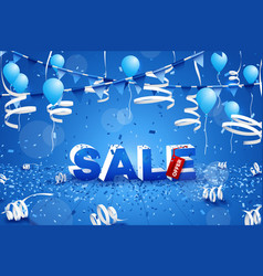 hot winter sale banner paper text design vector image vector image