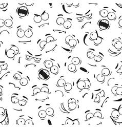 Human cartoon emoticon faces pattern vector image vector image