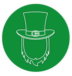 Irish elf hat and beard saint patrick celebration vector
