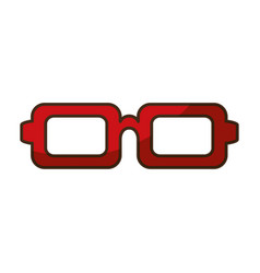 Isolated red glasses icon vector