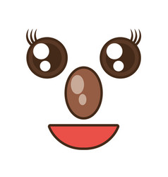 kawaii koala cute face animal vector image