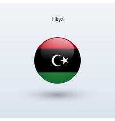 Libya round flag vector