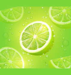 Lime juice green background citrus drink vector