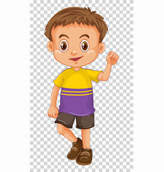 Little boy with happy face vector