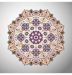 Ornamental olorful geometric mandala in aztec vector