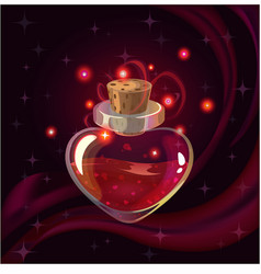 red magic bottle vector image vector image