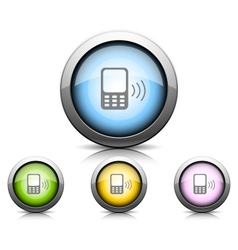 Set of icons with phone vector image