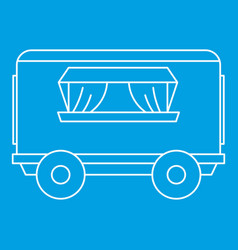 Street food trailer icon outline style vector