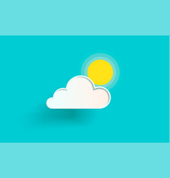 the cloud and the sun vector image vector image