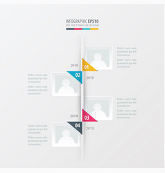 Timeline yellow blue pink color vector