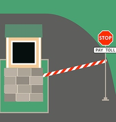 Toll booth stop sign vector