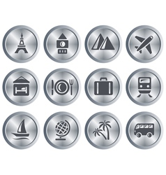Travel buttons vector image