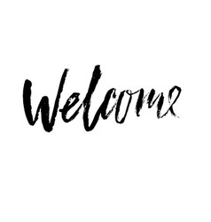 Welcome greeting card with vector