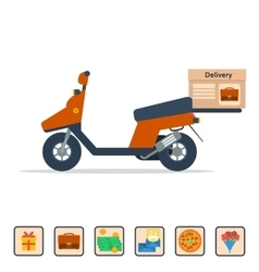 Scooter to deliver goods vector