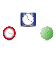 Simple web clock on a white background vector