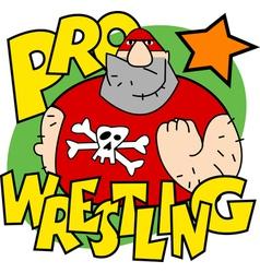 Pro wrestling vector image