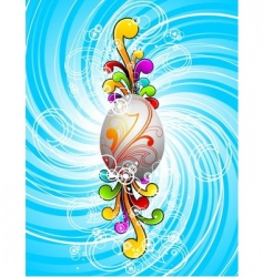 easter illustration with painted egg vector image
