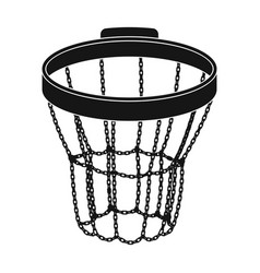 Basketball hoopbasketball single icon in black vector