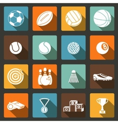 Sports icons set vector