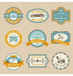 Auto service labels vector