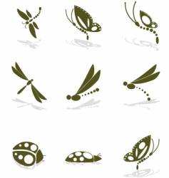 Bug icons vector