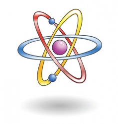 atom illustration vector image