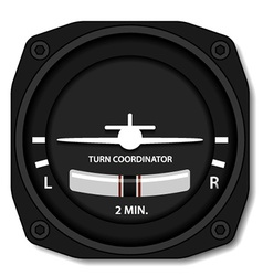 Aviation airplane turn balance indicator vector
