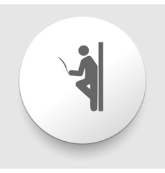 Man reading a newspaper library sign icon vector