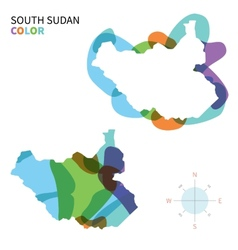 Abstract color map of South Sudan vector image