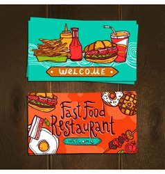 Fast food cards vector