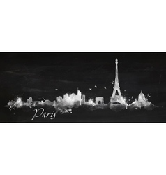 Silhouette chalk Paris vector image