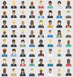 Avatar business and private set 64 item vector