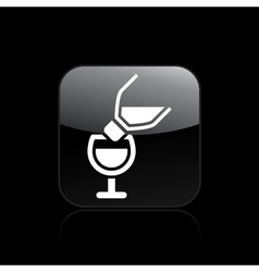 Wine pour icon vector