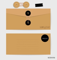 Envelopes set blank mockups vector