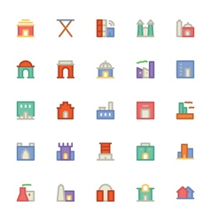Building and furniture icons 4 vector