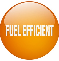 Fuel efficient orange round gel isolated push vector