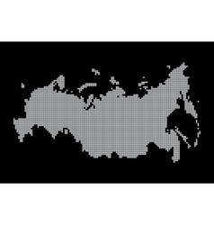 Map of russia geography vector
