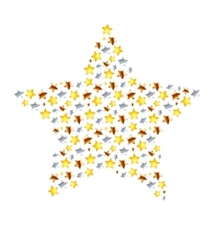 Star made from different many little stars on vector image