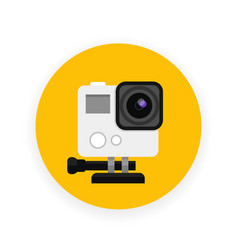 action camera icon in flat style vector image vector image