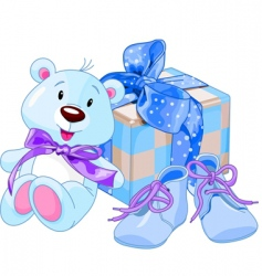 baby boy gifts vector image