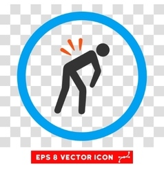 Backache eps rounded icon vector