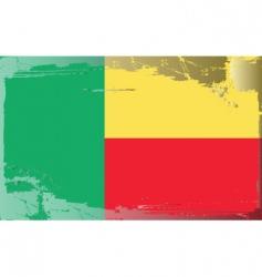 Benin national flag vector