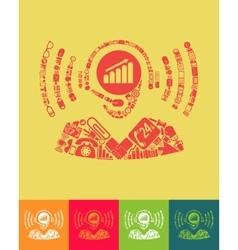 call center icon vector image